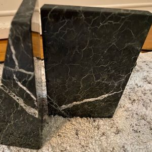Genuine Marble book holders black and white